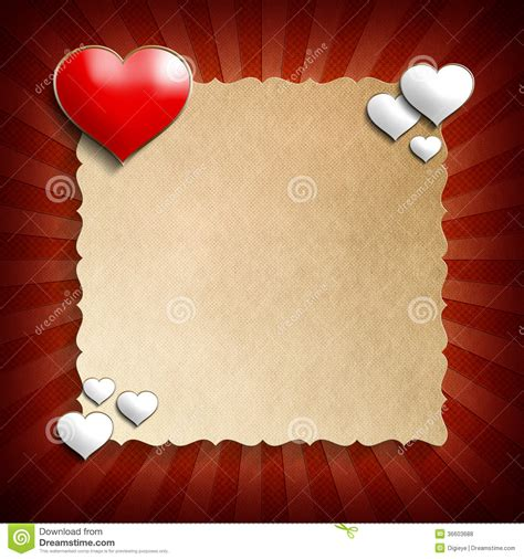 blank valentines card template day background template stock illustration