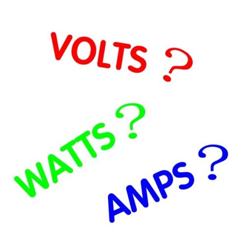volts watts amps kilowatt hours kwh and electrical