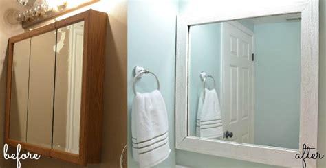diy medicine cabinet makeover diy pallet framed mirror u create