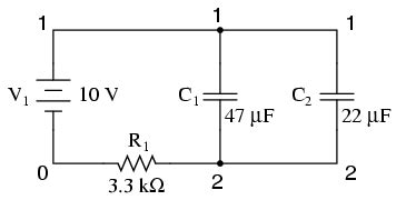 capacitors in circuits exles exle circuits and netlists using the spice circuit simulation program electronics textbook