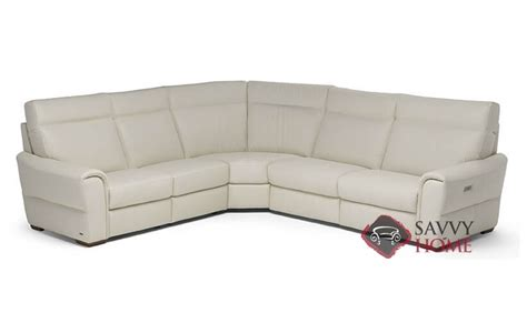 Natuzzi Leather Power Reclining Sectional by Topino Leather True Sectional By Natuzzi Is Fully