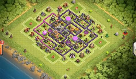 th7 ultimate layout dark elixir farming base layouts for maxed heroes