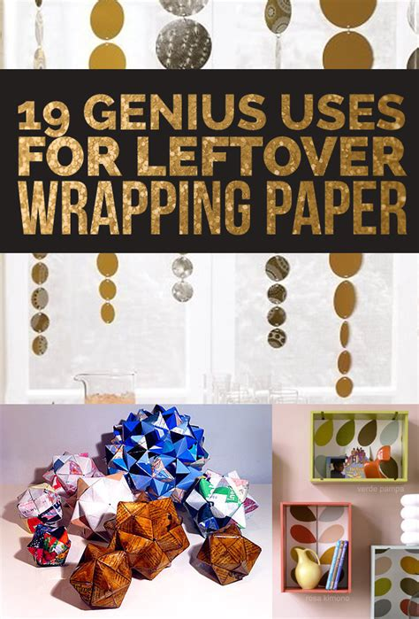 Wrapping Paper Craft Ideas - 19 clever ways to use leftover wrapping paper also in