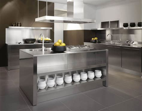 metal island kitchen modern metal kitchen island home ideas collection