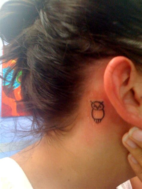 small owl tattoo behind ear 50 small owl tattoos collection