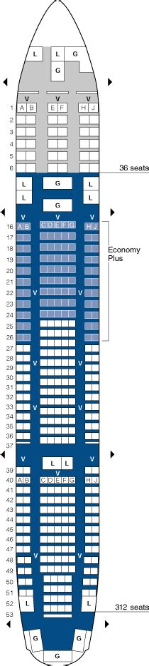 united seating chart united airlines aircraft seatmaps airline seating maps
