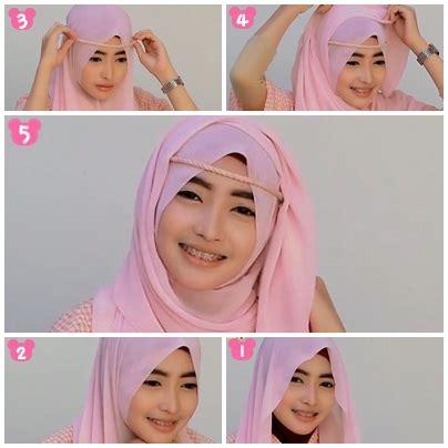 tutorial hijab pesta rawis tutorial hijab pashmina sifon pesta