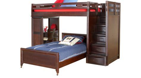 Bed Bunk With Desk League Cherry Step Loft Bunk With Desk Loft Desk