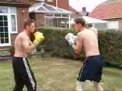 backyard boxing backyard boxing rnd 1 youtube