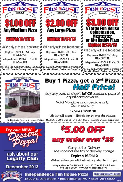 house of fun promo codes fun house pizza 23rd street independence mo