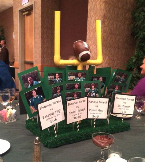 football banquet centerpieces high school football banquet centerpieces football
