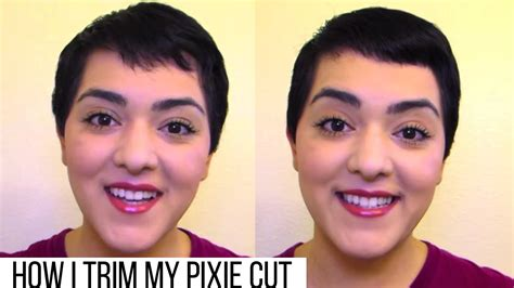 how to cut own pixie how i trim my pixie cut laura neuzeth youtube