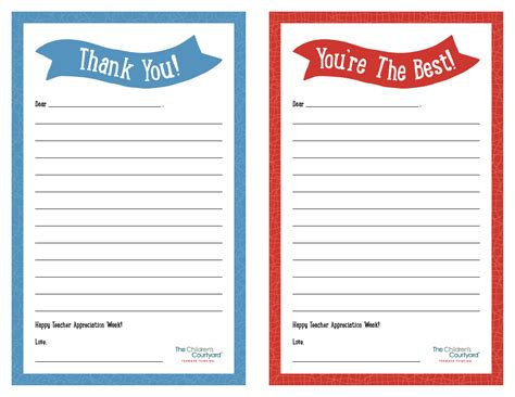 printable thank you notes for teachers to give to students best photos of printable teacher thank you notes thank