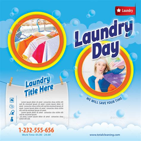 flyer template laundry laundry services bifold brochure 06 by 21min graphicriver