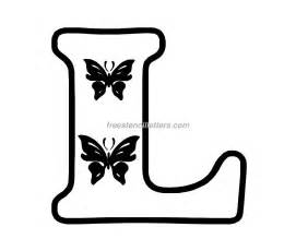 print l letter stencil free stencil letters