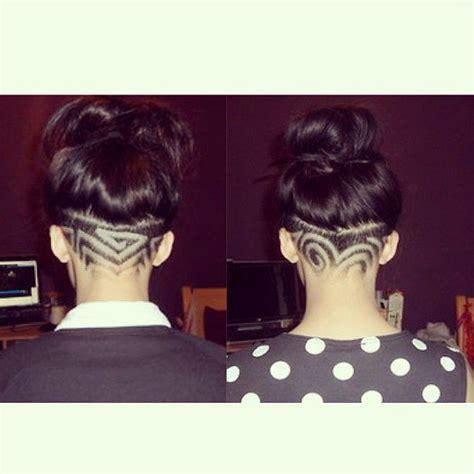 1000 ideas about undercut hairstyles women on pinterest undercut design shornnape hair tattoo barber