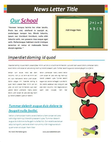 School Newsletter Templates The Best Template Ideas Free Newsletter Templates Pdf