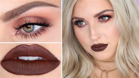 eyeshadow tutorial brown eyes youtube brown lipstick makeup tutorial warm brown sultry smokey