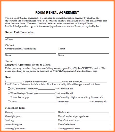 Letter Of Agreement Between Tenant And Landlord 8 Rental Agreement Between Landlord And Tenant Purchase
