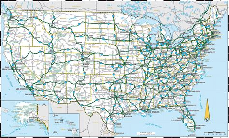 large us road map large detailed highways map of the us the us large