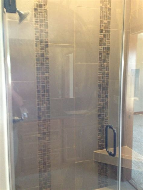 vertical tile shower custom tile shower with two vertical and glass tile