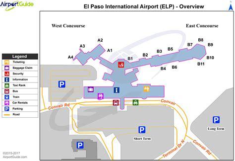 el paso map el paso el paso international elp airport terminal