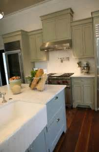 Green Cabinets In Kitchen Gray Green Cabinets Cottage Kitchen Grace Interiors