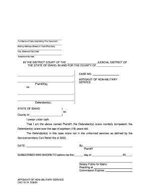 Bill Of Sale Form Connecticut Affidavit Concerning Military Service Form Templates Fillable Affidavit Of Non Service Template