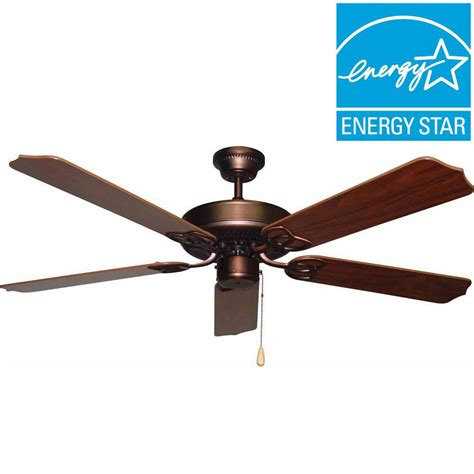 ceiling fans antique bronze hton bay pendleton 52 in oil rubbed bronze indoor
