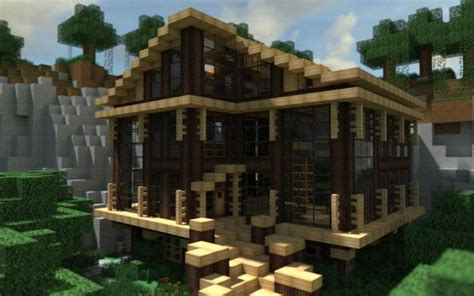 Minecraft Cabin House by Modern Cabin In The Woods In Minecraft Minecraft