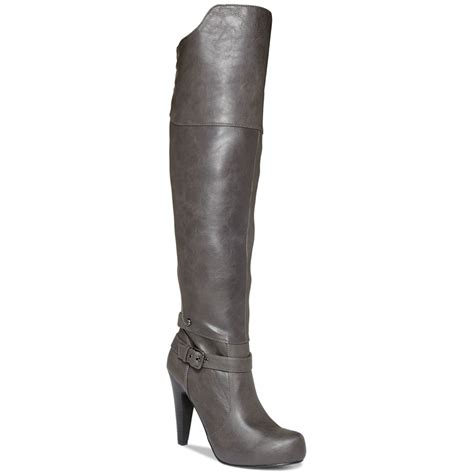 gray the knee boots g by guess trinna the knee platform dress boots in