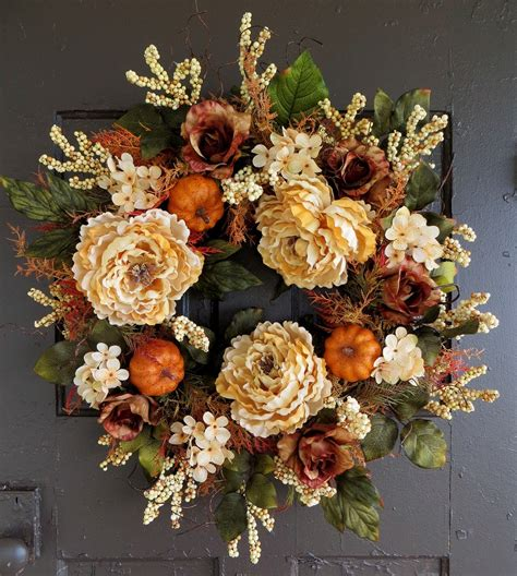 Handmade Door Wreaths - 16 whimsical handmade thanksgiving wreath designs for your