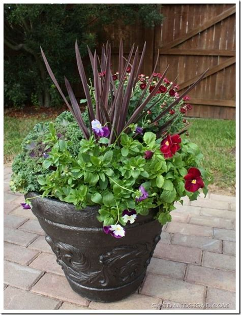 17 best ideas about fall planters on front
