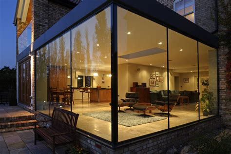 Home Front View Design Ideas modern glass addition to otherwise traditional home