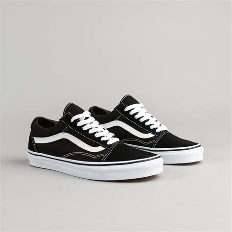 Vans Skool Blackl White Jual Vans Oldskool vans skool shoes black white flatspot