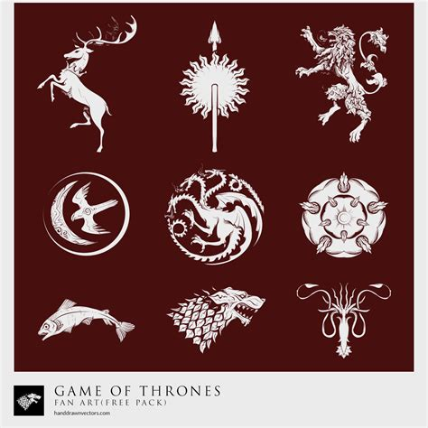 design game of thrones sigil game of thrones sigil collection vector diy pinterest