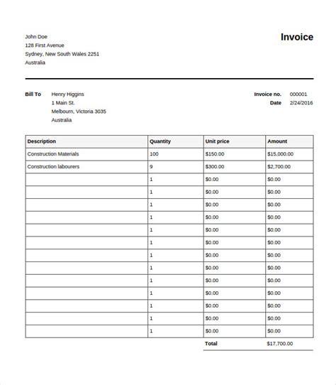 editable invoice template 28 blank invoice templates free premium templates