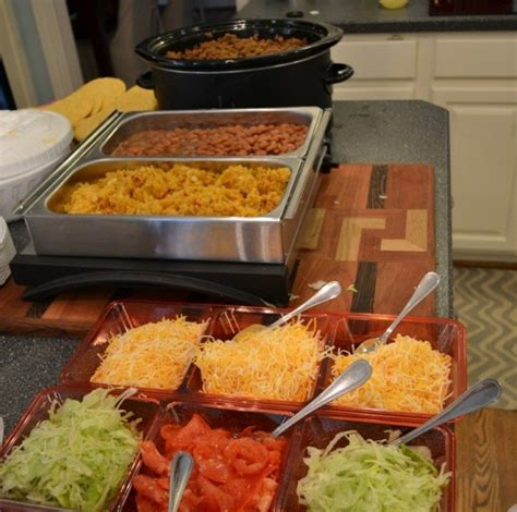 Taco Bar The Easiest Way To Feed A Crowd And Make Taco Buffet Ideas