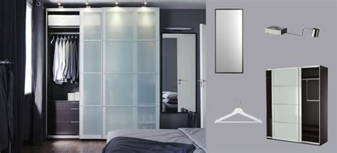 Black Brown Wardrobe Closet Pax Black Brown Wardrobe With Sekken Frosted Glass Sliding