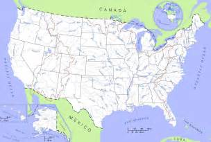 Maps Of Usa With States by United States Rivers And Lakes Map Mapsof Net