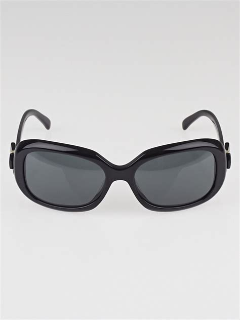chanel black frame bow sunglasses 5170 yoogi s closet