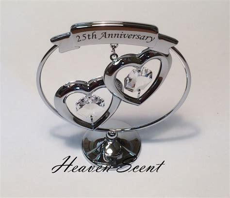 25th wedding anniversary gift ideas 25th silver wedding anniversary gift ideas with swarovski