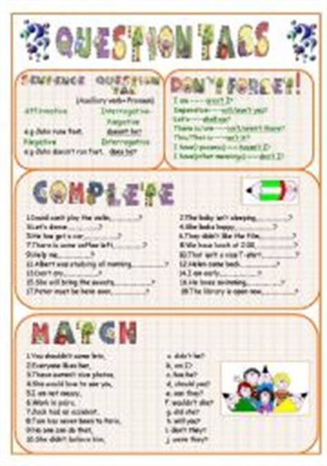 printable worksheets on question tags question tags worksheet by kodora