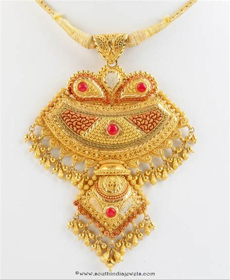 gold pendant design from senthil murugan jewellery south