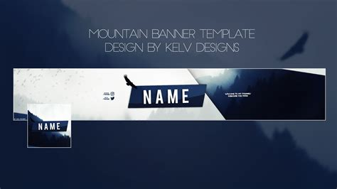 youtube banner pack photoshop templates