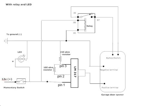 wiring diagram for stanley garage door opener wiring