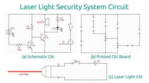 laser light detector circuit working explanation of laser light security alarm