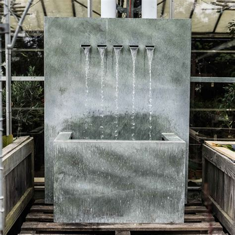 buy veneto large zinc water feature contemporary water