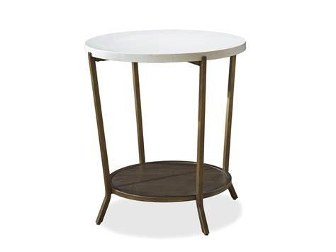 Playlist Round Stone Top End Table Palma Brava Furniture Store in Oakville, Burlington