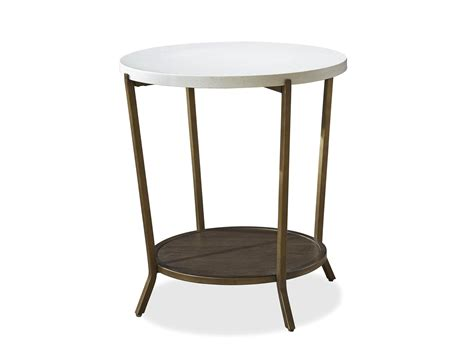 Playlist round stone top end table palma brava furniture store in oakville burlington